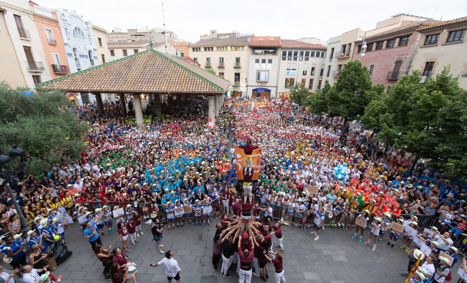 The Granollers' Porxada, full to receive the Granollers Cup 2018;